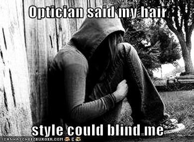 emo hair emolulz First World Problems lazy eyes optician - 6250702336