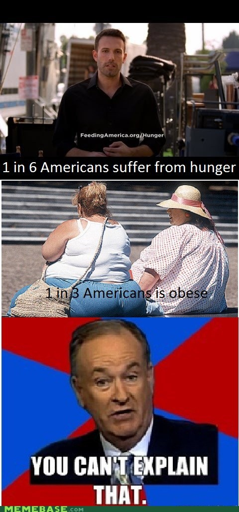ben affleck bill-oreilly hunger obese suffer