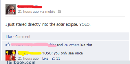 Stop saying YOLO