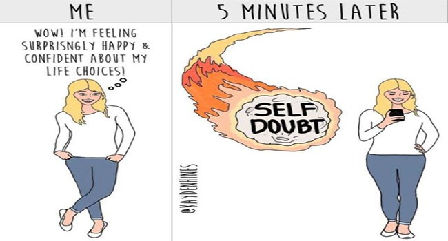 cartoon webcomics about the difficulties of being and adult