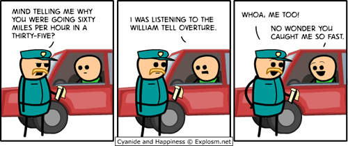 classical cops police speeding william tell william tell overture