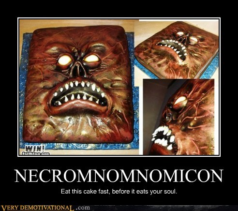 cake,food,necronomicon,Pure Awesome,zombie