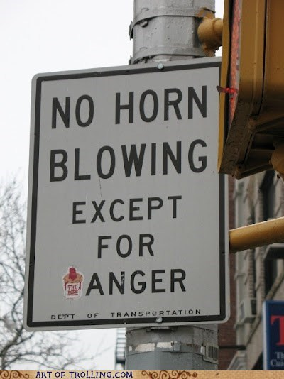 honking,horn,IRL,sign