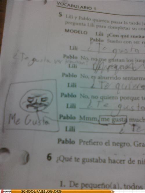 me gusta Memes spanish test humor - 6252368384