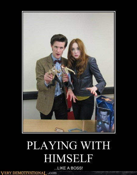 doctor who,hilarious,playing with himself,toy