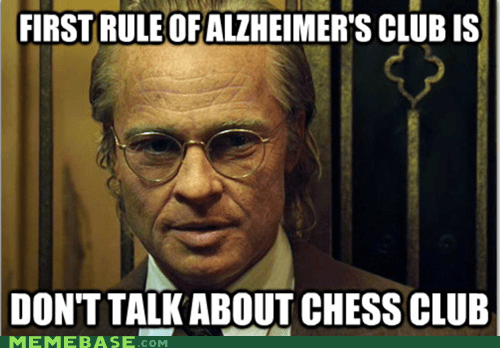 benjamin button brad pitt chess fight club Memes - 6252902144