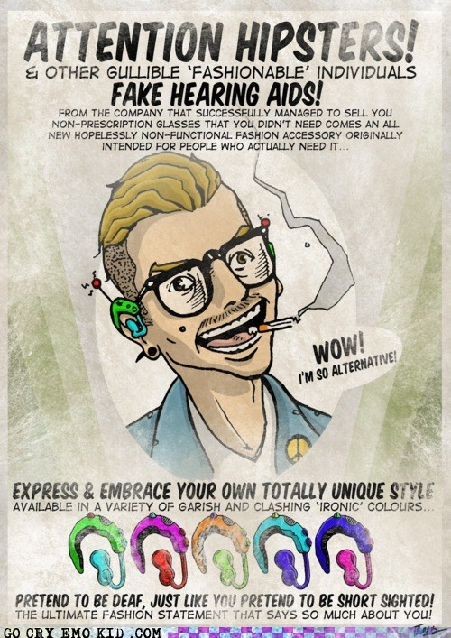 Ad best of week dumb glasses hearing aid hipster hipsterlulz ironic - 6253174528