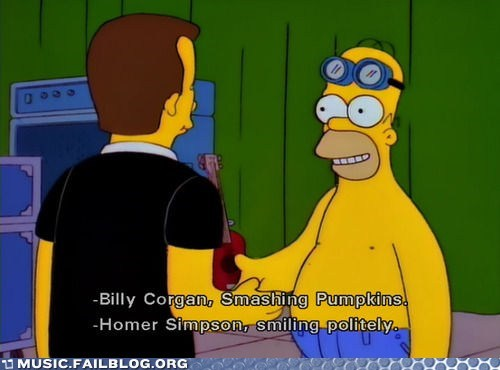 billy corgan simpsons smashing pumpkins the simpsons
