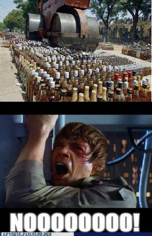 alcohol disposal,luke skywalker,steamroller