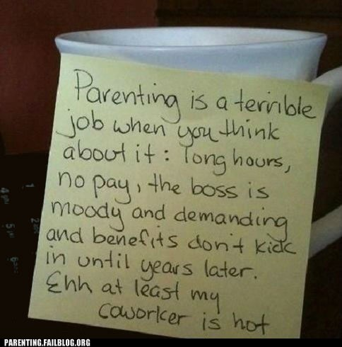 coffe,Hall of Fame,parenting,post-it note,terrible job
