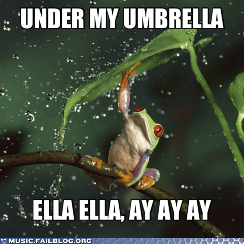 frog rihanna tree frog umbrella