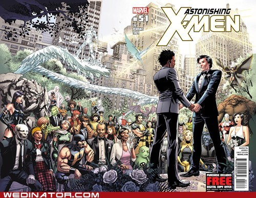 comics funny wedding photos gay marriage geek marvel x men - 6253434880