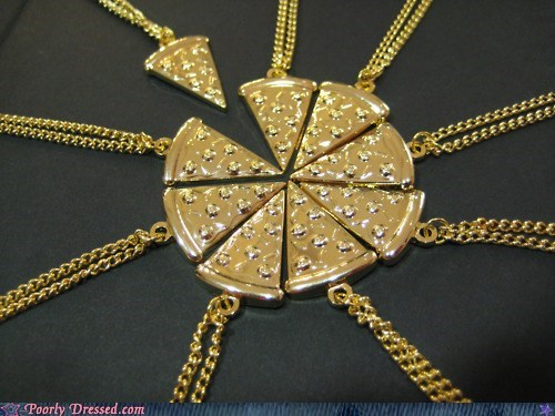 design fashion necklace pizza