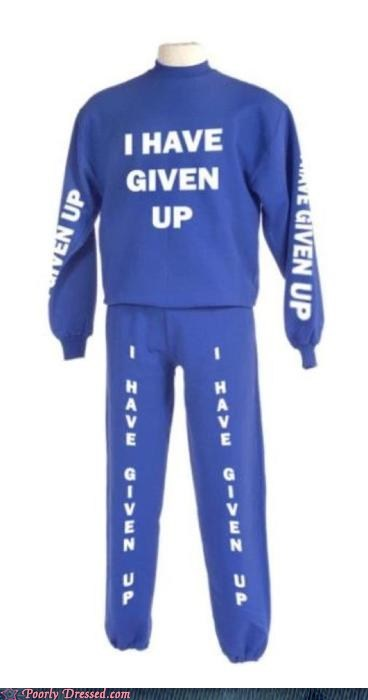 giving up Hall of Fame lazy sweater sweatpants