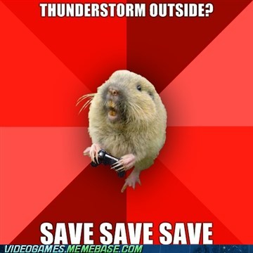 gaming gopher,meme,save,thunderstorm