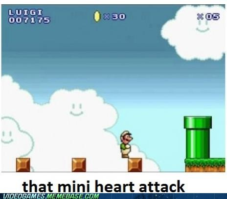 heart attack,jump,luigi,mario,video games