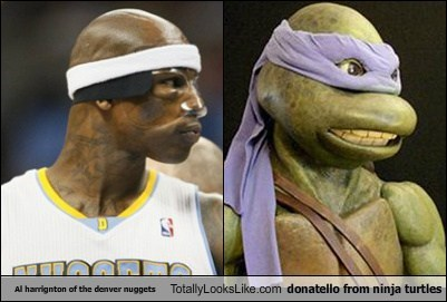 Al harrignton of the denver nuggets Totally Looks Like donatello from ninja turtles