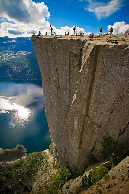 cliff,Hall of Fame,lake,Norway,rock