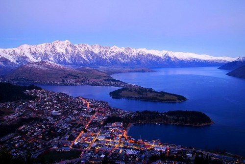 bay,city,mountain,new zealand