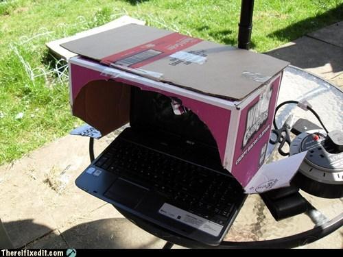 cardboard box d3 diablo 3 diablo III nerds outdoors outside screen glare spoilers the enemy of nerds everyw - 6253624064