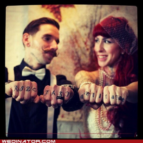 funny wedding photos hipster retro tattoos - 6253740288