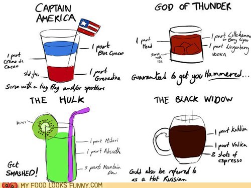 alcohol avengers booze characters drinks themed