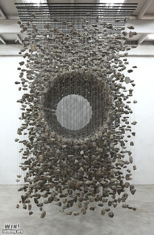 art,design,installation,rocks,weird