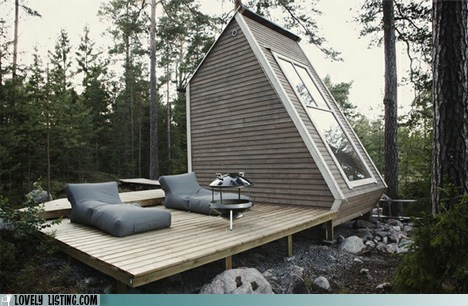 cabin,deck,vacation,woods