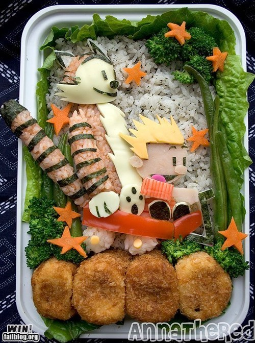 bento,calvin and hobbes,design,food,g rated,lunch,win