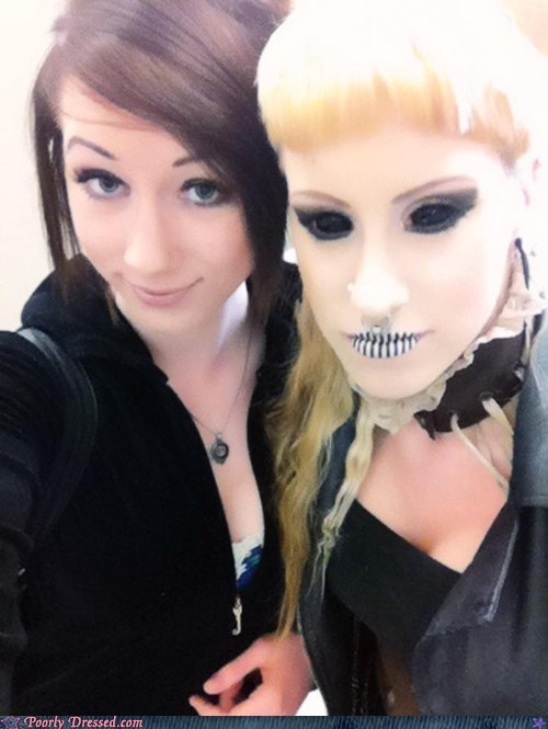 Death,makeup,oh god why,skull