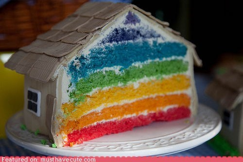 cake epicute hidden secret house rainbow