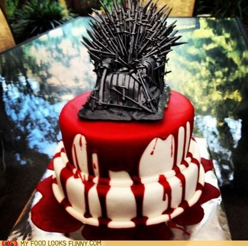 Blood,cake,Game of Thrones,iron throne,TV