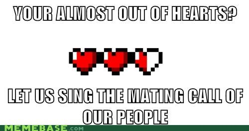 hearts,mating call,suicide,zelda