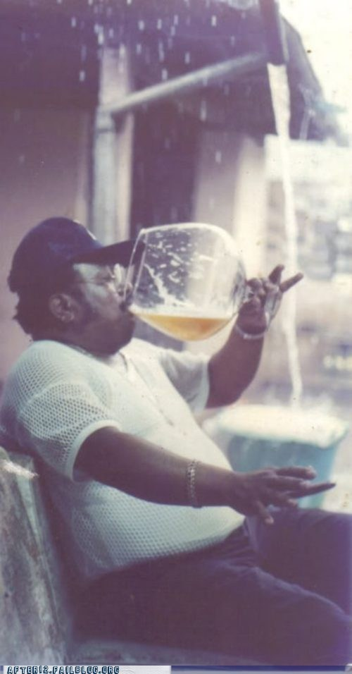 pinky out,beer,sir,huge glass,funny