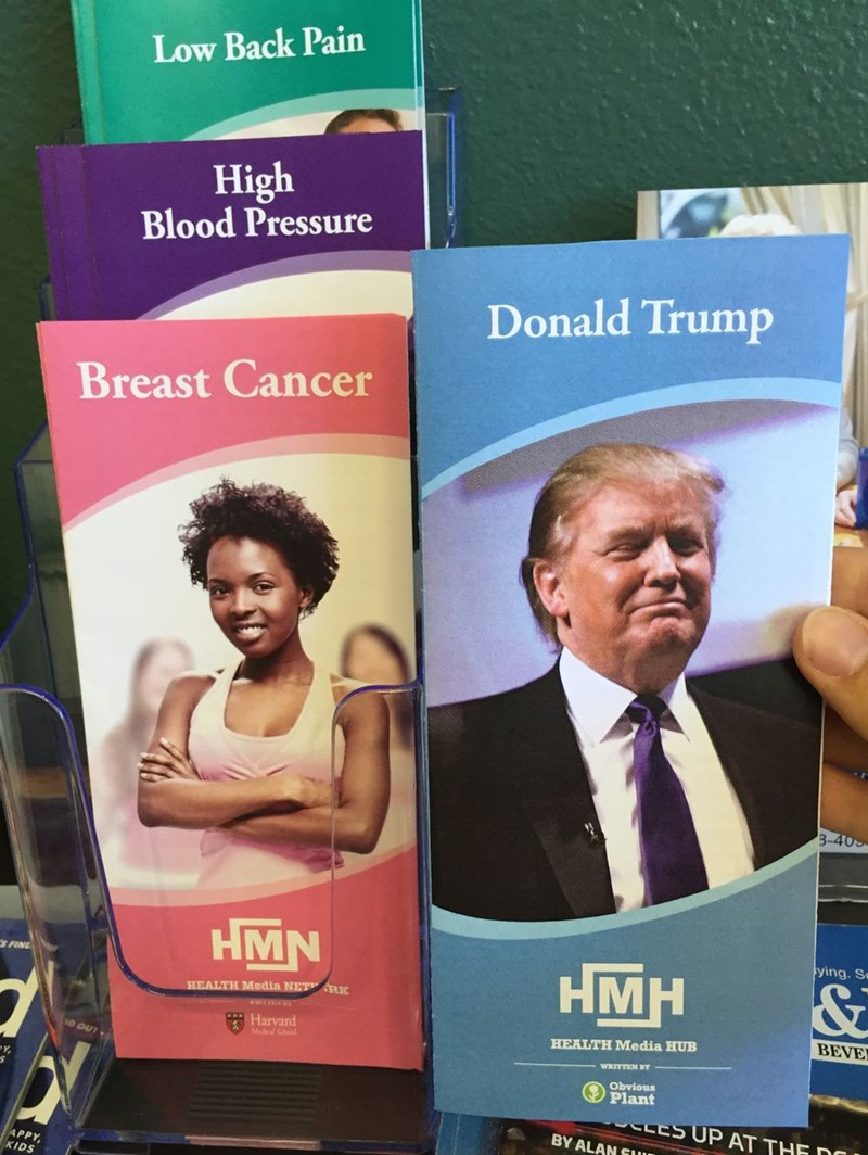 donald trump health pamphlet