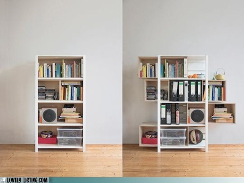 bookcase,clever,expanding,shelves,smart