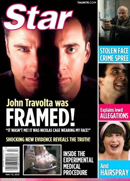fake,funny,john travolta,nic cage,nicolas cage,spoof
