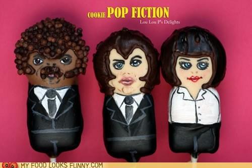 cake pops,characters,fondant,john travolta,pulp fiction,Samuel L Jackson,umathurman
