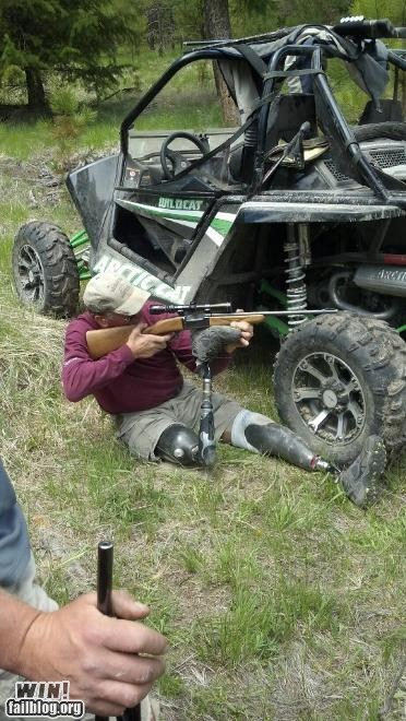 aim amputee BAMF disabled g rated gun hunting win