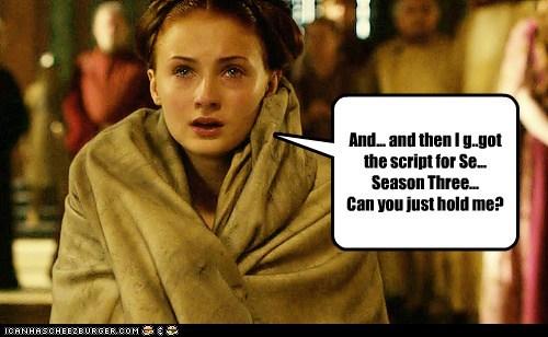 crying sansa stark script season 3 Sophie Turner - 6254313216