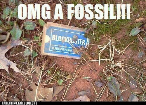 blockbuster fossil membership card video rental - 6254415616