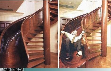 crazy man slide stairs - 6254947840