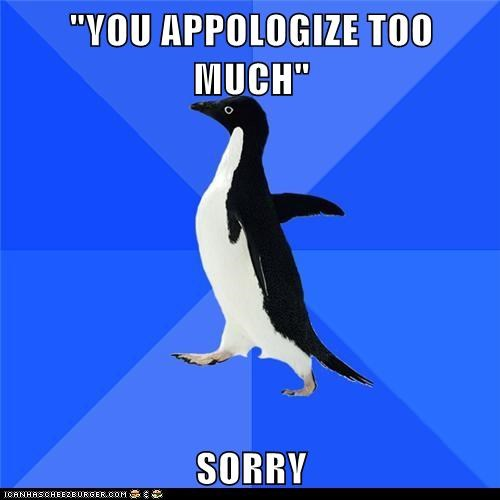 apologies,Awkward,Hall of Fame,Memes,penguins,socially awkward penguin,sorry
