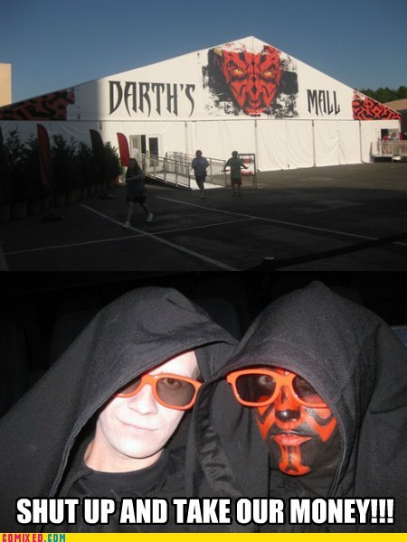 darth maul,mall,savings,shopping,the internets