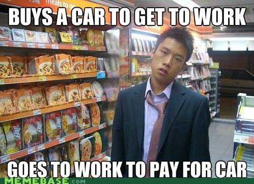 cars,Memes,money,work