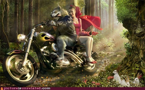 bad boy,Little Red Riding Hood,motorcycle,wolfram alpha,wtf