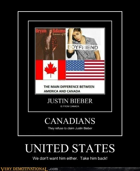 Canada,hilarious,justin bieber,take him back