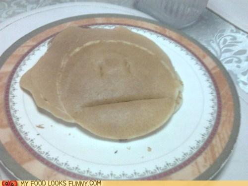 blank face girl hair pancake - 6255749120