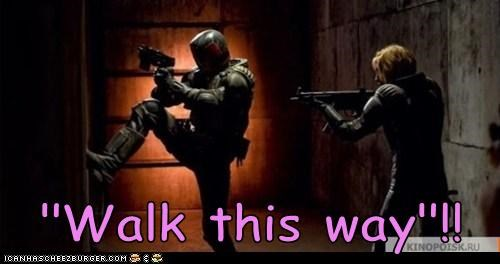 charge,judge dredd reboot,production,stills,walk this way