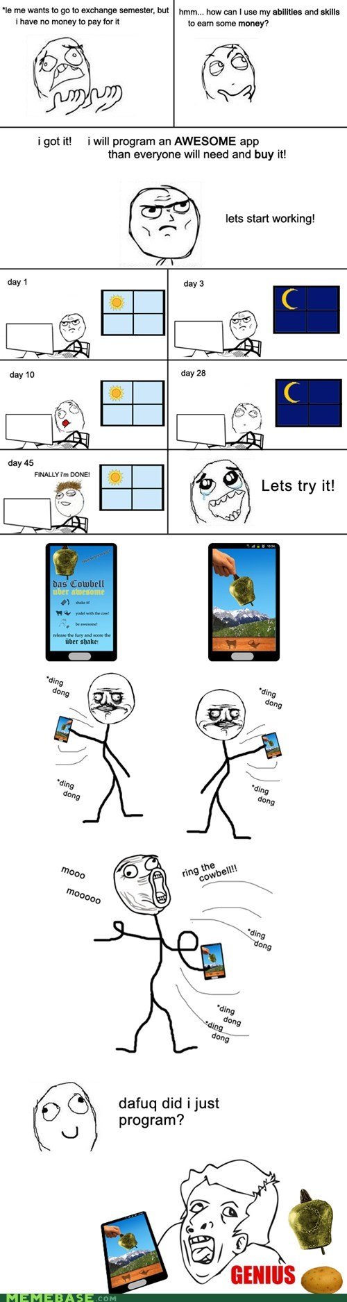 App,dance,fruit,genius,program,Rage Comics,skills